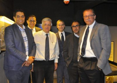 Members of the Museum Committee (L to R) : Prof. Ahmed Ali [Director of Hospital], Dr. Amr Hassan, Prof. Mustafa El Sadek, Prof. Ahmed El Minawi [ Curator of Museum],Karim Shaboury[Museologist],  Prof. Mohamed Momtaz [ Chairman of the Dept. of Ob & Gyn]
